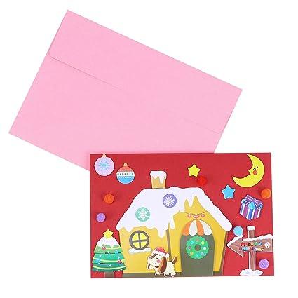 Amazon Com Christmas Greeting Cards Handmade Material Bag Crafting