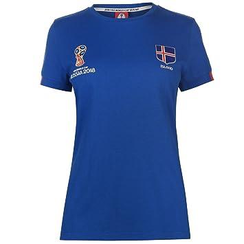 FIFA World Cup 2018 Iceland Core T-Shirt Womens Blue Football Soccer Top  Shirt UK c4b4ede7b0