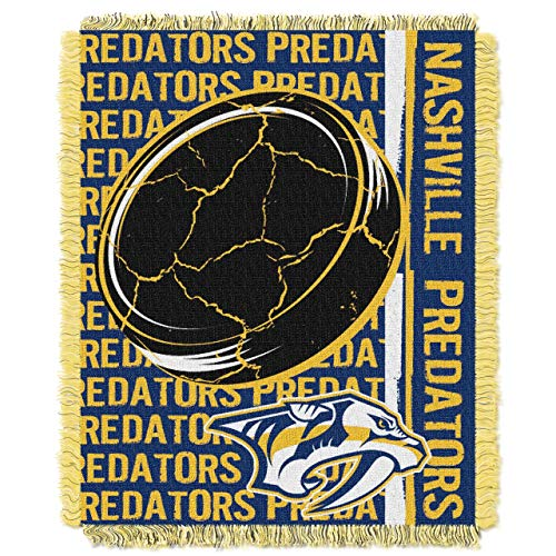 The Northwest Company Nashville Predators Double Play Woven Jacquard Throw Blanket