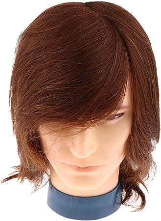 Sharplace Tete De Mannequin Homme Pratique De Coiffure Cosmetologie Modele Pratique D Exercice Avec Cheveux Pour Pratique 2 Marron Amazon Fr Hygiasne Et Soins Du Corps