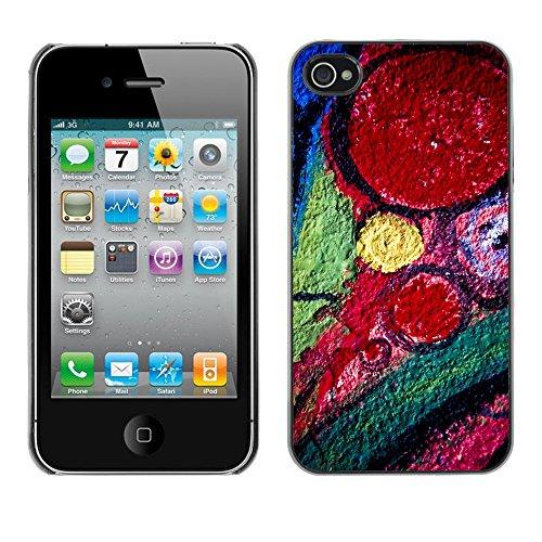 Premio Sottile Slim Cassa Custodia Case Cover Shell // V00002288 Graffiti // Apple iPhone 4 4S 4G