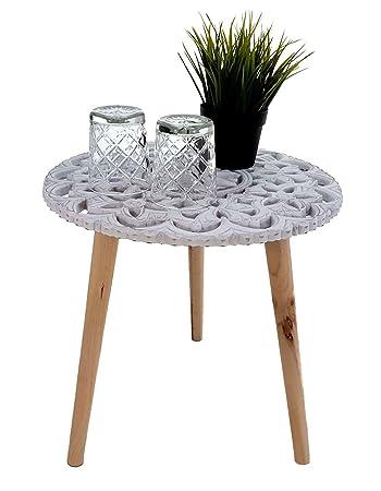 Design Beistelltisch Shabby Chic - 40x40 cm - Holz Deko Tisch klein ...