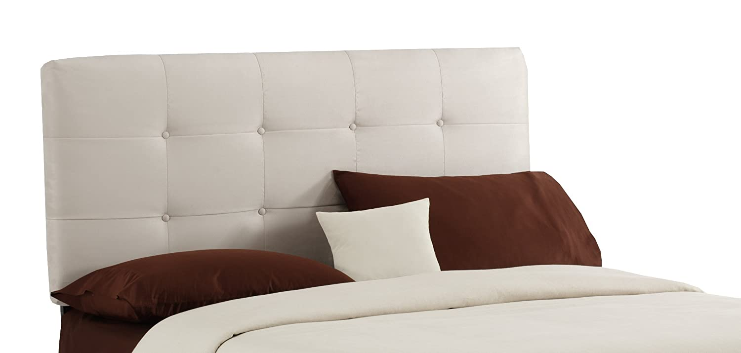 amazoncom  skyline furniture surrey queen microsuede  - amazoncom  skyline furniture surrey queen microsuedeupholstered tuftedheadboard oatmeal