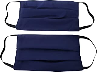 product image for Made in USA, 2 pack Face Coverings, pleated washable, reusable and protection from dust. (Navy)