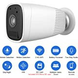 Security Camera Great Promotion Crazy Deal, JOOAN 1080P HD Wireless Rechargeable Battery Powered Security Camera WiFi IP Camera Wire-Free Home Surveillance Cameras with Two Way Audio PIR Sensor Motion Detection Super Night Vision With 32G Micro SD Card