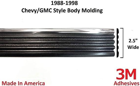 Autmotive Authority 1988-1998 Chevy GMC Chrome Side Body Trim Molding Tahoe Suburban Silverado Pickup Truck - 2.5