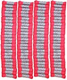 FootGalaxy High Quality Laces Bulk Packs (40'' -  100 Pair, Neon-Pink)