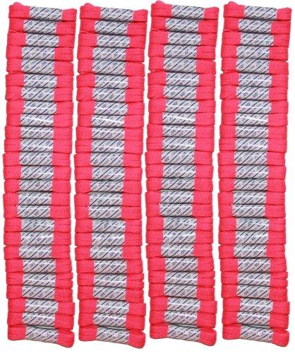 FootGalaxy High Quality Laces Bulk Packs (40'' -  100 Pair, Neon-Pink)