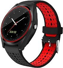 Reloj inteligente Bluetooth SmartWatch Sweatproof teléfono con cámara TF/tarjeta SIM y gestión de la salud para Smartphone Android y iPhone para niños niñas niños hombres mujeres