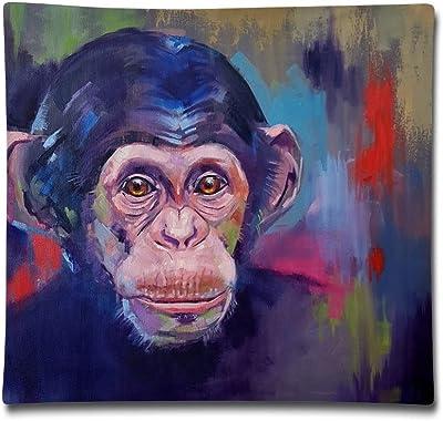 "Redcong Pillow Cover 18""X18"" Chimpanzee Face Pillowcase Square Throw Case Cushion for Sofa Decorative"