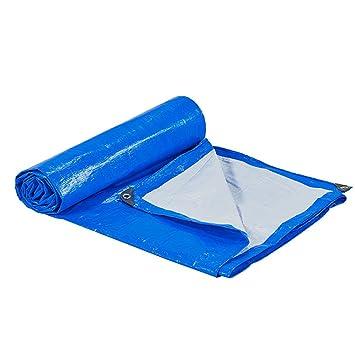 JNYZQ Cobertor de Lona Resistente al Agua Azul Carpa Resistente Toldo Parasol Cubiertas Impermeables para Lonas de Cubierta de Lona Cobertizo para camioneta ...