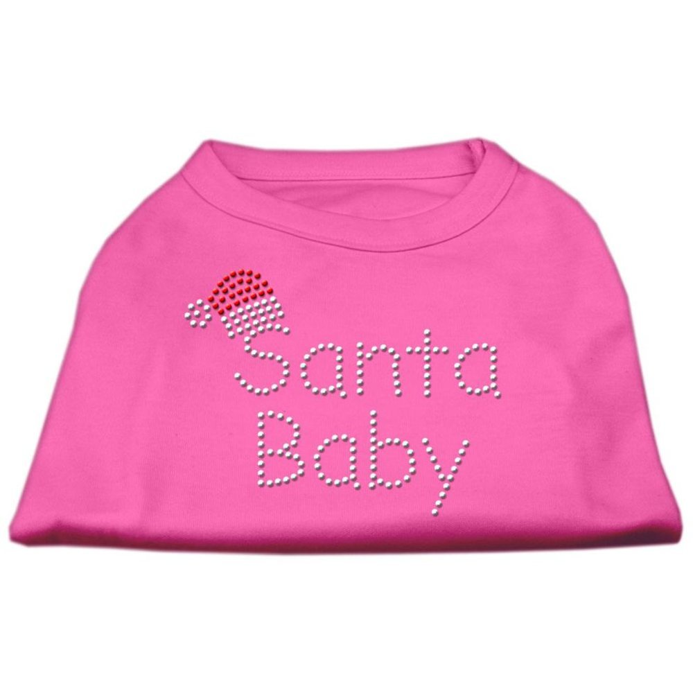 Mirage Pet Products 18-Inch Santa Baby Rhinestone Print Shirt for Pets, XX-Large, Bright Pink