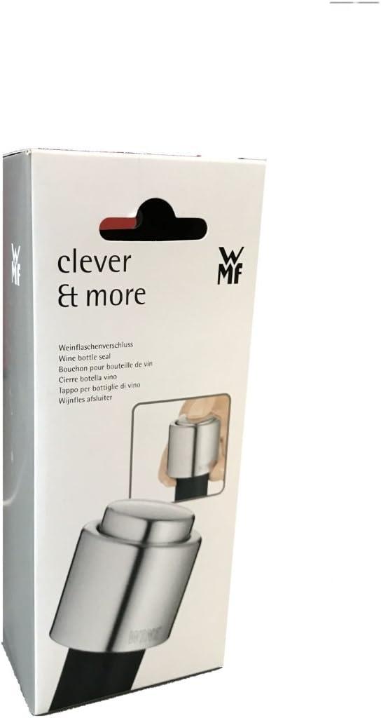 WMF Tapón de Botella de vino Clever y más Cromargan Acero Inoxidable Pulido un