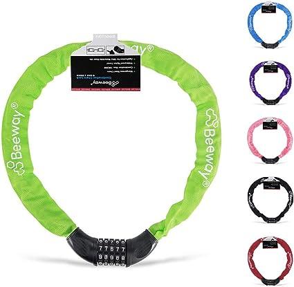 Bicycle Chain Lock Bike Security 4-Digit Password Combination Anti-theft Padlock