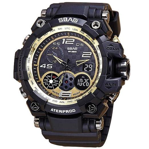 DAYLIN Hombre Reloj Deportivo Led Reloj de Fecha Reloj Digital Despertador Cronometro Reloj Pulsera Actividad Militar Reloj Fitness Impermeable Sports Wrist ...