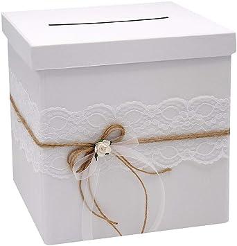 Zauberdeko Briefbox Mira Hochzeit Vintage Spitze Natur Kartenbox