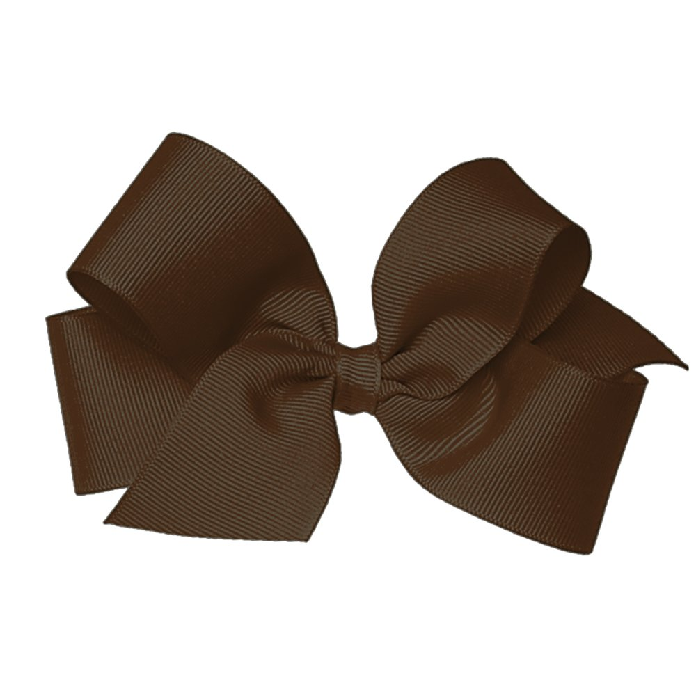 Wee Ones Baby Girls' Medium Grosgrain Hair Bow on a WeeStay Clip w/Plain Wrap SBL-G-BLK