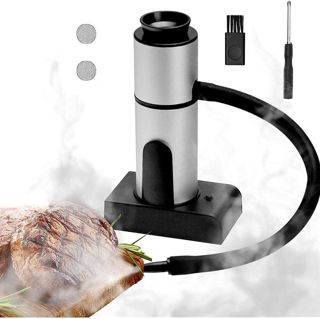 GaoYunQin Portable Smoke Infuser Handheld Smoking Gun Food Smoker to Enhance Taste for Meat,Sous Vide, BBQ, Cocktail Drinks & Cheese