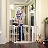 """Toddleroo by North States 72"""" wide Deluxe Décor Gate: Perfect safety solution for extra wide spaces with added one hand funct"""