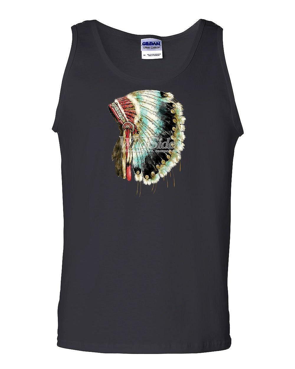 Indian Warbonnet Headdress Tank Top Native American Tribal Chief Sleeveless