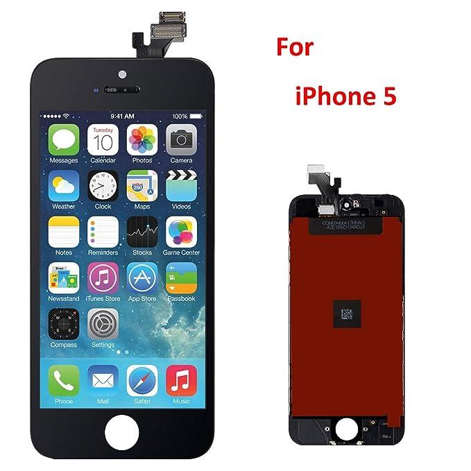Equipo Premium de Repuesto y Reparación De Pantalla Para iPhone 5 (Movistar, Vodafone, Orange y Yoigo) – Negro