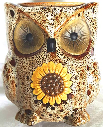(Electric Ceramic White Spotted Owl Wax Melt Warmer)