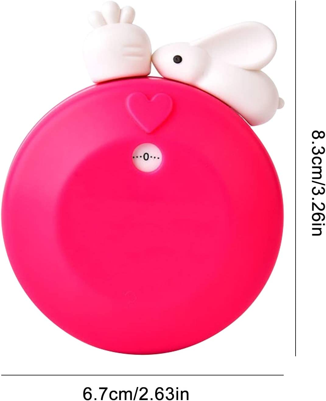 2 Pezzi Simpatica Sveglia a Forma di Coniglio con Conto alla rovescia Cottura alla griglia Studio Yoga MA Lvjkes Timer da Cucina Meccanico Timer Meccanico da 60 Minuti Timer da Cucina Manuale