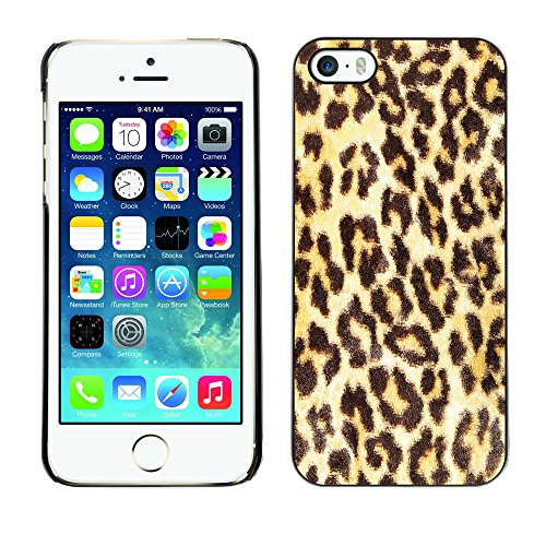 Premio Sottile Slim Cassa Custodia Case Cover Shell // V00002750 motif léopard // Apple iPhone 5 5S 5G