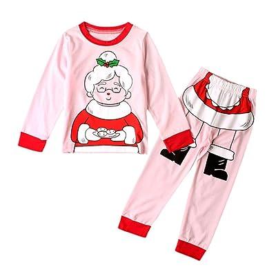 Rumas Kids Baby Boys Girls Christmas Christmas Grandma Tops Shirt Pants Outfits Set Clothes