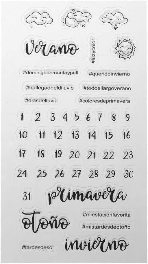 PHILSP España Tiempo Calendario Sello de Silicona Sello DIY Scrapbooking Álbum de Fotos Decoración: Amazon.es: Hogar