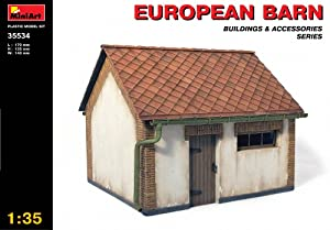 MiniArt 1/35 European Barn with Bonus Figure Set by Dragon Models