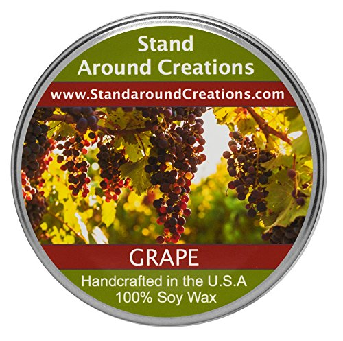 Premium 100% Soy Tureen Candle - 3 oz - Grape- Fresh, juicy notes of plump concord grapes.
