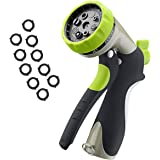 VicTsing Upgrade Garden Hose Nozzle, 8 Adjustable Pattern Pistol Grip Hand, High Pressure for Watering, Washing and Showering