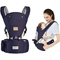 Baby Carrier with Hip Seat for Newborn Toddler 3 in 1 Breathable Child Carrier Backpack Sling Wrap