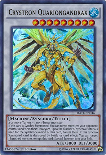 Crystron Quariongandrax - RATE-EN046 - Ultra Rare - 1st Edition - Raging Tempest
