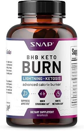 BHB Keto Burn - Keto Diet Supplements for Weight Loss & Rapid Trim, Turn Fat Into Energy, Suppress Appetite, Boost Metabolism, Keto Fat Burner & Ketosis Fuel for Men & Women (60 Capsules)