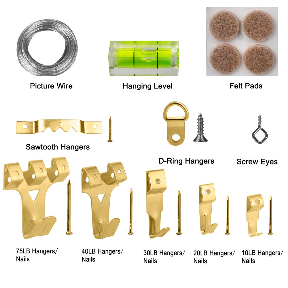 Amazon.com: Hopttreely Heavy Duty Photo Frame Hooks, 216 Pieces ...