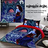 MIDNIGHT BRIDE Duvet & Pillows Case Covers Set for Queensize Bed