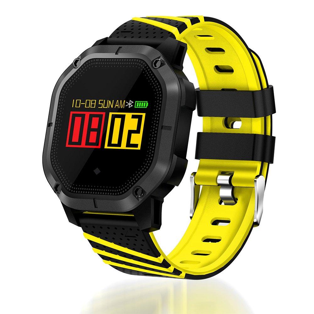 PINCHU Smart Bracelet Heart Rate Wristband Pedometer Ring Electronics Pulse Fitness Bracelets Wearable Devices,Yellow