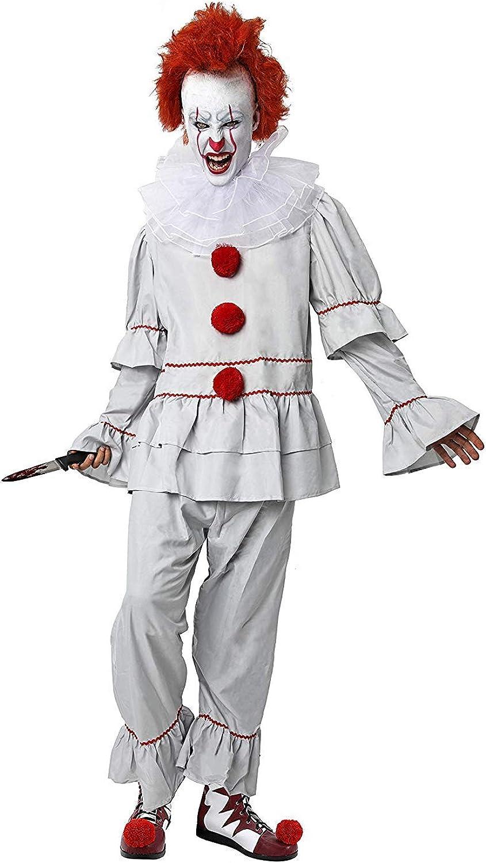 DM Disfraz de Payaso Diabólico/Asesino. Incluye: Camisa, Pantalón ...