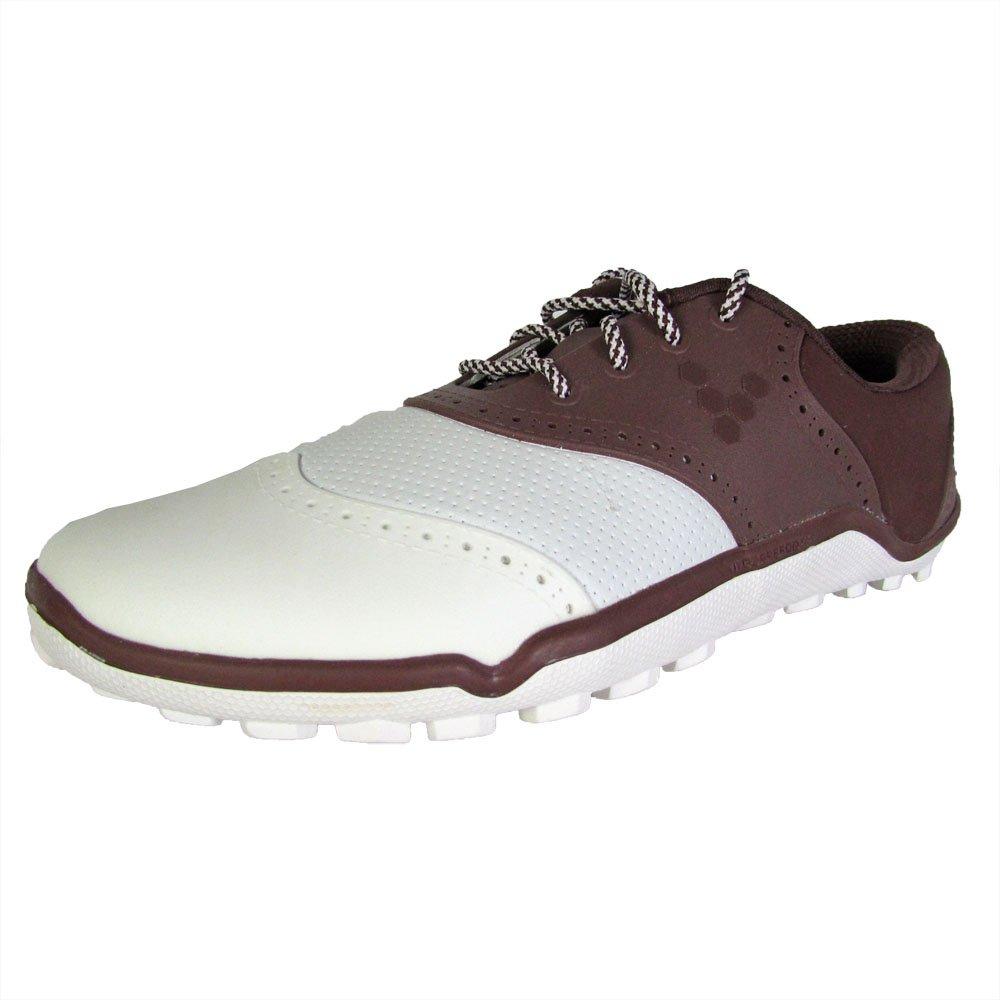 Vivobarefoot Women's Linx Golf Shoe, Chocolate/White, 35 EU/5-5.5 M US