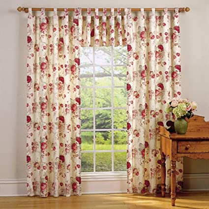 Waverly Garden Room Vintage Rose Tab Top Valance (60x17u0026quot;)