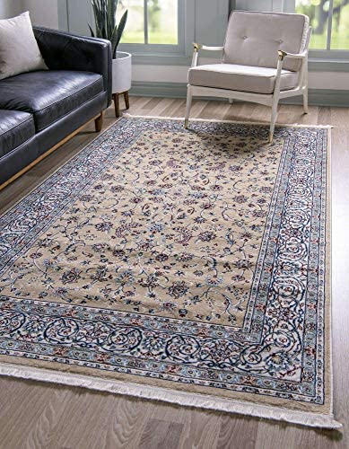 Unique Loom Narenj Collection Classic Traditional Repeating Pattern Beige Area Rug 13 0 x 19 8