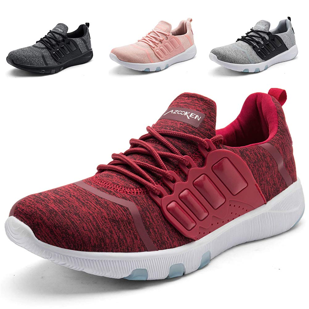 Red TORISKY Mens Womens Trainers shoes Cushion Lightweight Sport Gym Running shoes Competition Athletic Sneakers