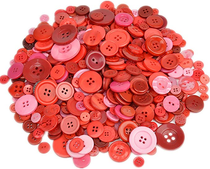 Christmas Candy Cane Buttons Round Sew Thru Flat Back 600