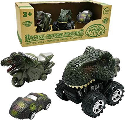 Amazon.com: GreenKidz - Juego de 3 juguetes de dinosaurio ...
