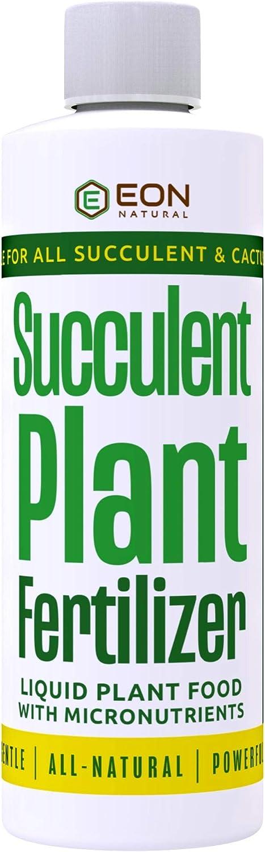 EON NATURAL Succulent Plant Food | 8 oz Organic Succulent Fertilizer | Cactus Plant Food | All Purpose Succulent + Cactus + Snake + Aloe Liquid Soil | Indoor Plant Fertilizer Food for Potted Plants |