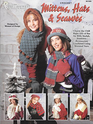 Mittens, Hats & Scarves by The Needlecraft Shop (Leaflet 961909) CROCHET