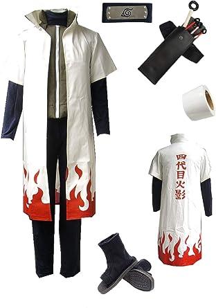 Naruto Namikaze Minato Cosplay Costume Full Set FREE P/&P