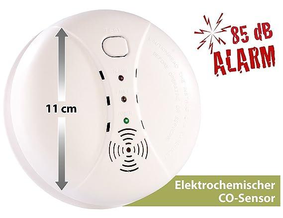 Detector de monóxido de carbono de VisorTech: detector de monóxido de carbono incluye Batería (alarma de emisiones de CO).: Amazon.es: Bricolaje y ...